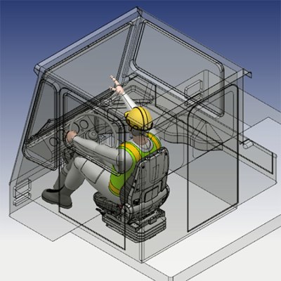 Ergo-link™ 3-D Human Factors Engineering CAD Mannequins